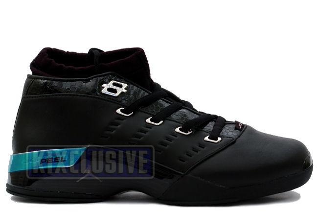 Air Jordan 17 Low Black / Chrome (Croc)