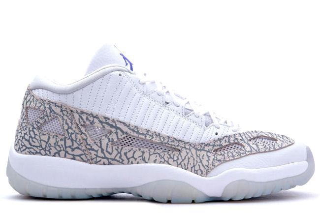 Air Jordan 11 Retro Low 2003 IE White / Cobalt
