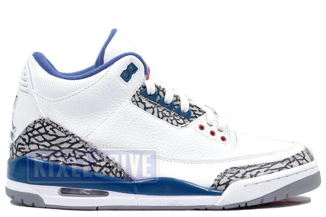 Air Jordan 3 Retro 2009 White / True Blue