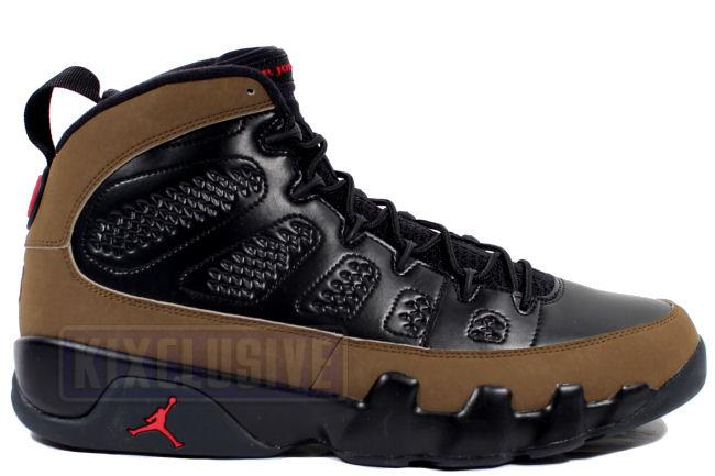Air Jordan 9 Retro 2012 Black / Olive