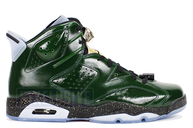 Air Jordan 6 Retro Champagne Green / Gold