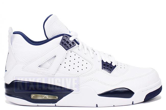 Air Jordan 4 Retro LS White / Midnight Navy