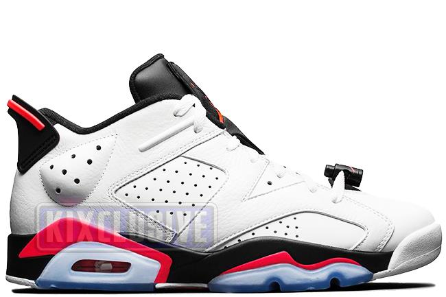 Air Jordan 6 Retro Low White / Infrared 23