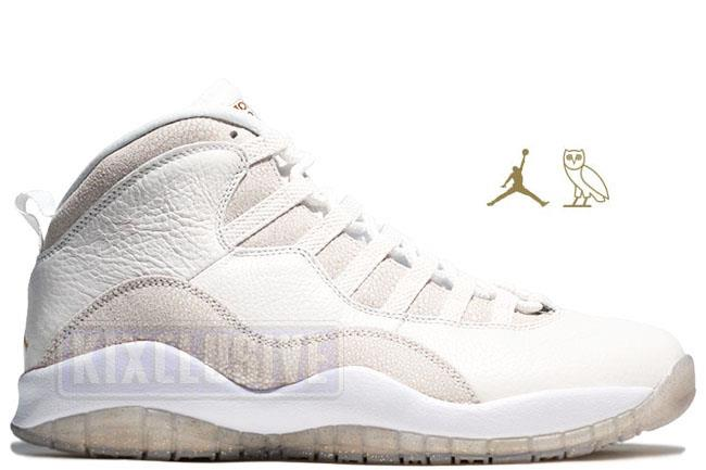 Air Jordan 10 Retro OVO White / Gold