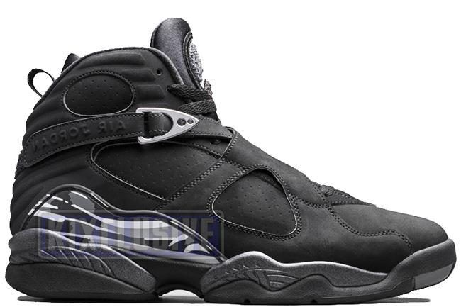 Air Jordan 8 Retro 2015 Black / Chrome