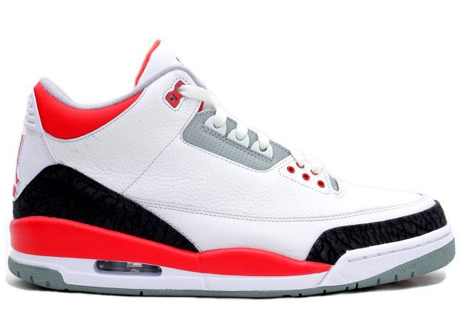 Air Jordan 3 Retro 2006 White / Fire Red