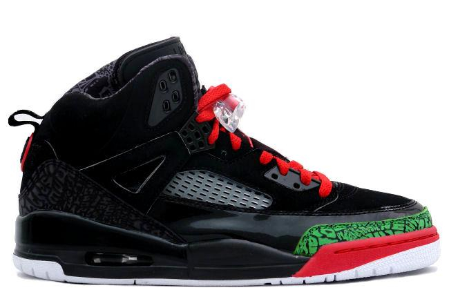 Air Jordan Spiz'ike Black / Red / Green