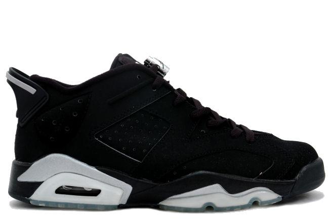 Air Jordan 6 Retro Low 2002 Black / Metallic Silver