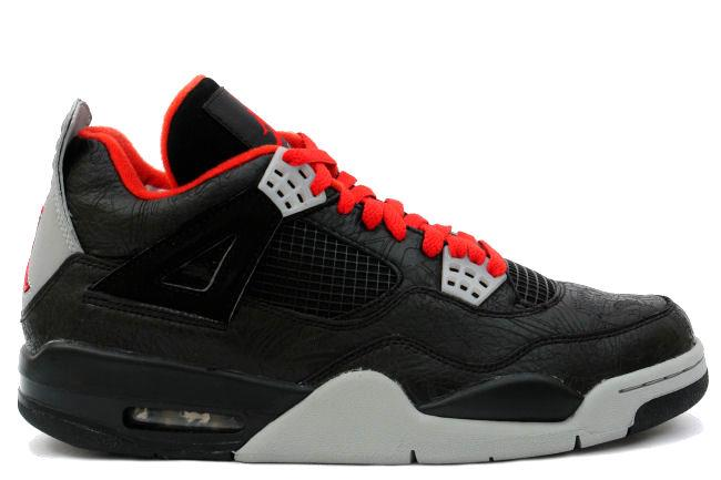 Air Jordan 4 Retro Laser Black / Red