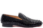 Christian Louboutin Rollerboy Spikes Flat Patent Black
