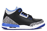 Air Jordan 3 Retro BG Black / Sport Blue