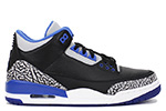 Air Jordan 3 Retro Black / Sport Blue