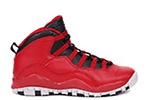Air Jordan 10 Retro BG Gym Red / Black
