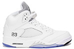 Air Jordan 5 Retro 2015 White / Metallic Silver