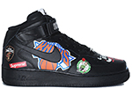 Air Force 1 Mid '07 Supreme NBA Black