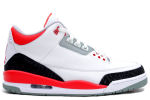 Air Jordan 3 Retro 2007 White / Fire Red