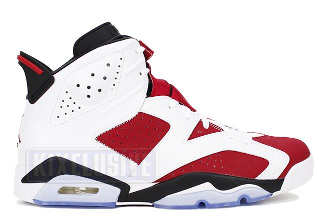 Air Jordan 6 Retro 2014 White / Carmine