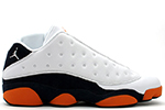Air Jordan 13 Retro Low White Navy Orange